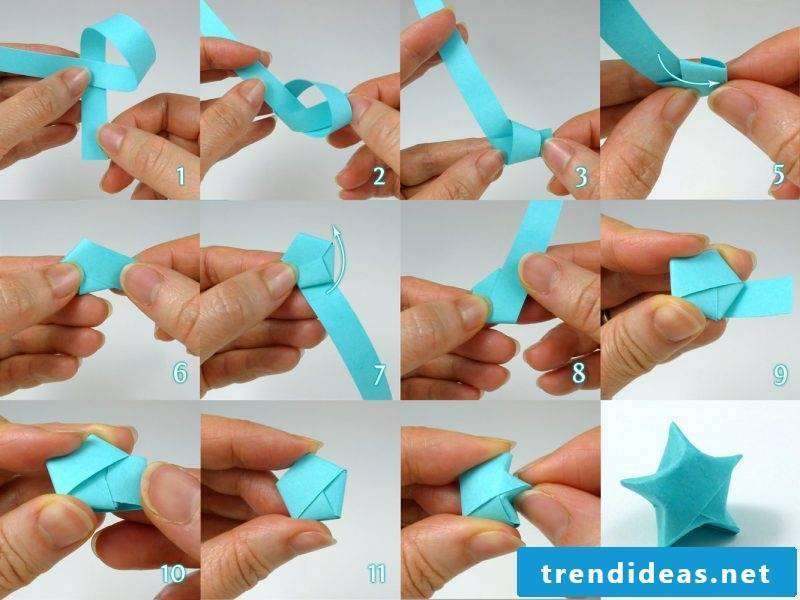 origami stars blue