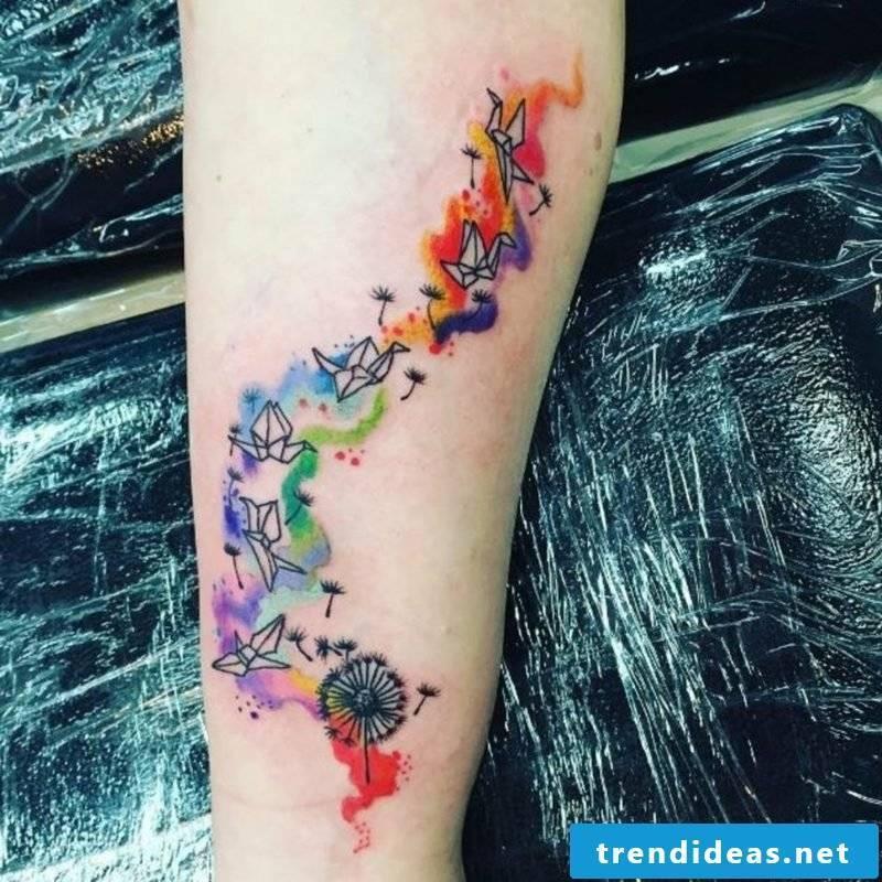 dandelion drawn tattoo