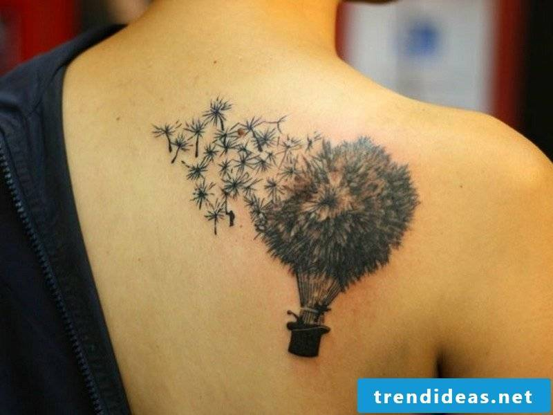 dandelion tatoo shoulder