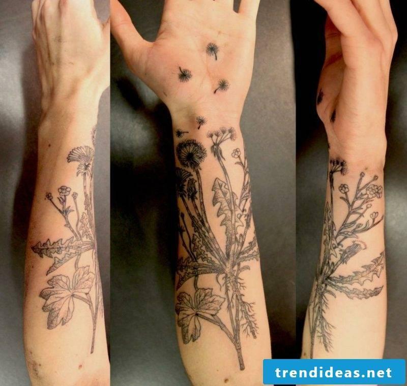 tattoo dandelion template