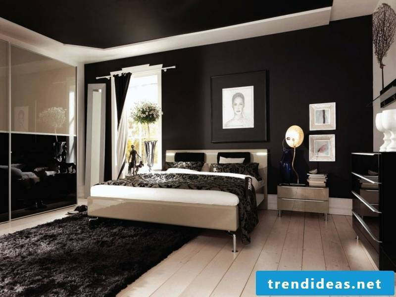 dark blanket in the bedroom