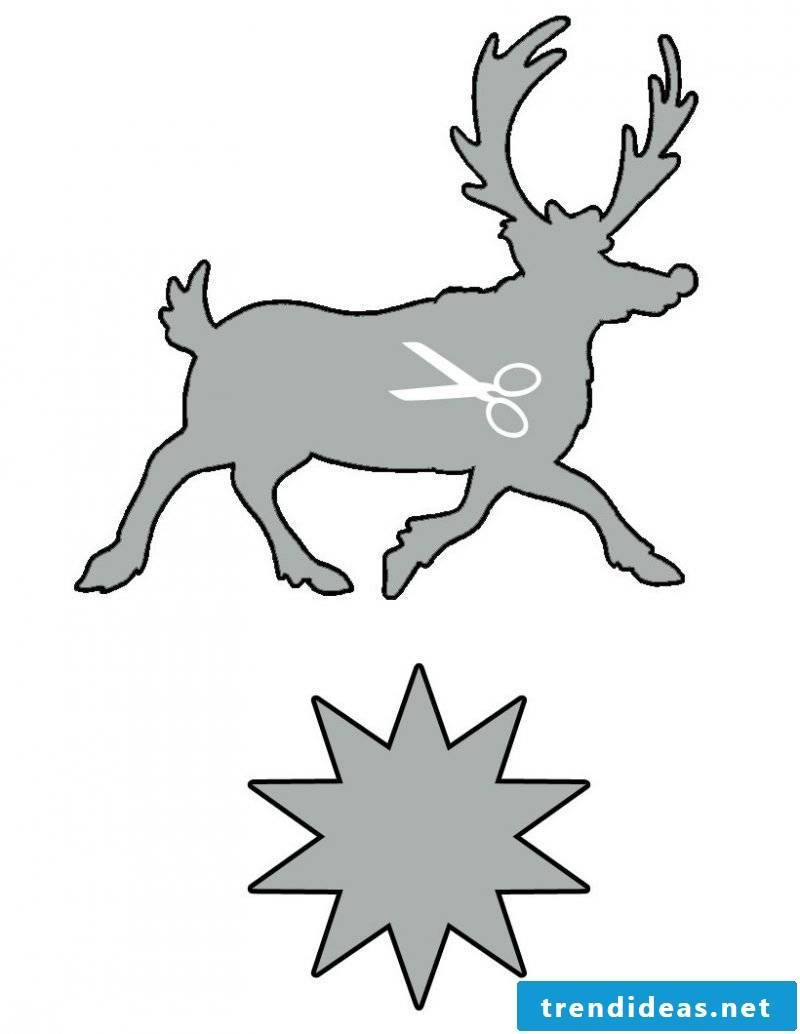 Christmas motives for printing template idea