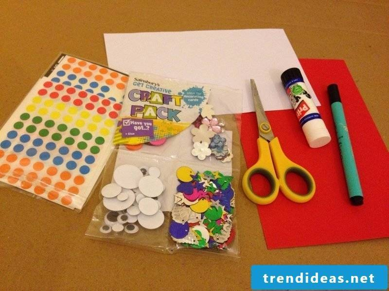 to make your own birthday cards you need simple materials