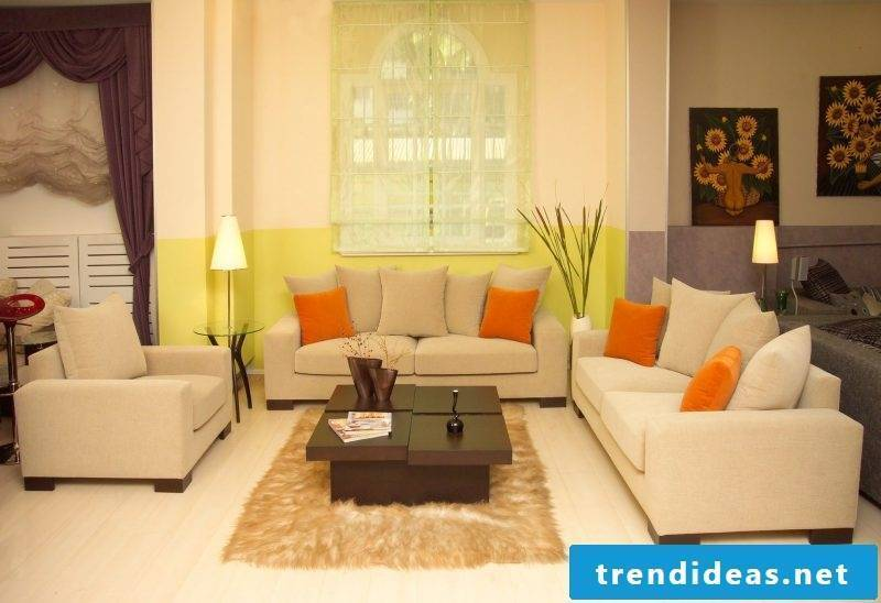 feng shui colors living room