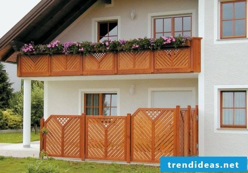 Balcony border wood terrain