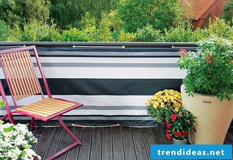 Balcony border fabric type