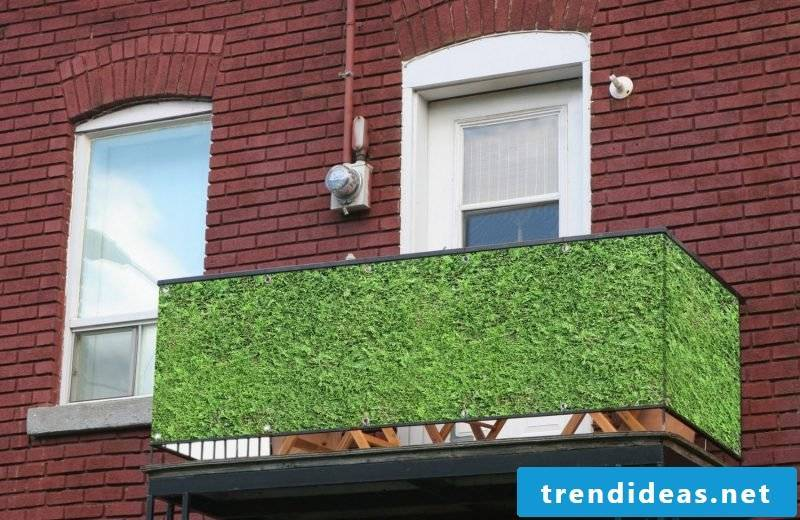 Balcony border grass imitation
