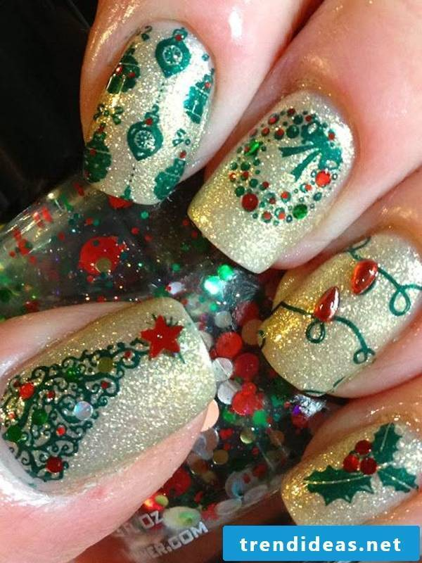 Christmas nails for beginners