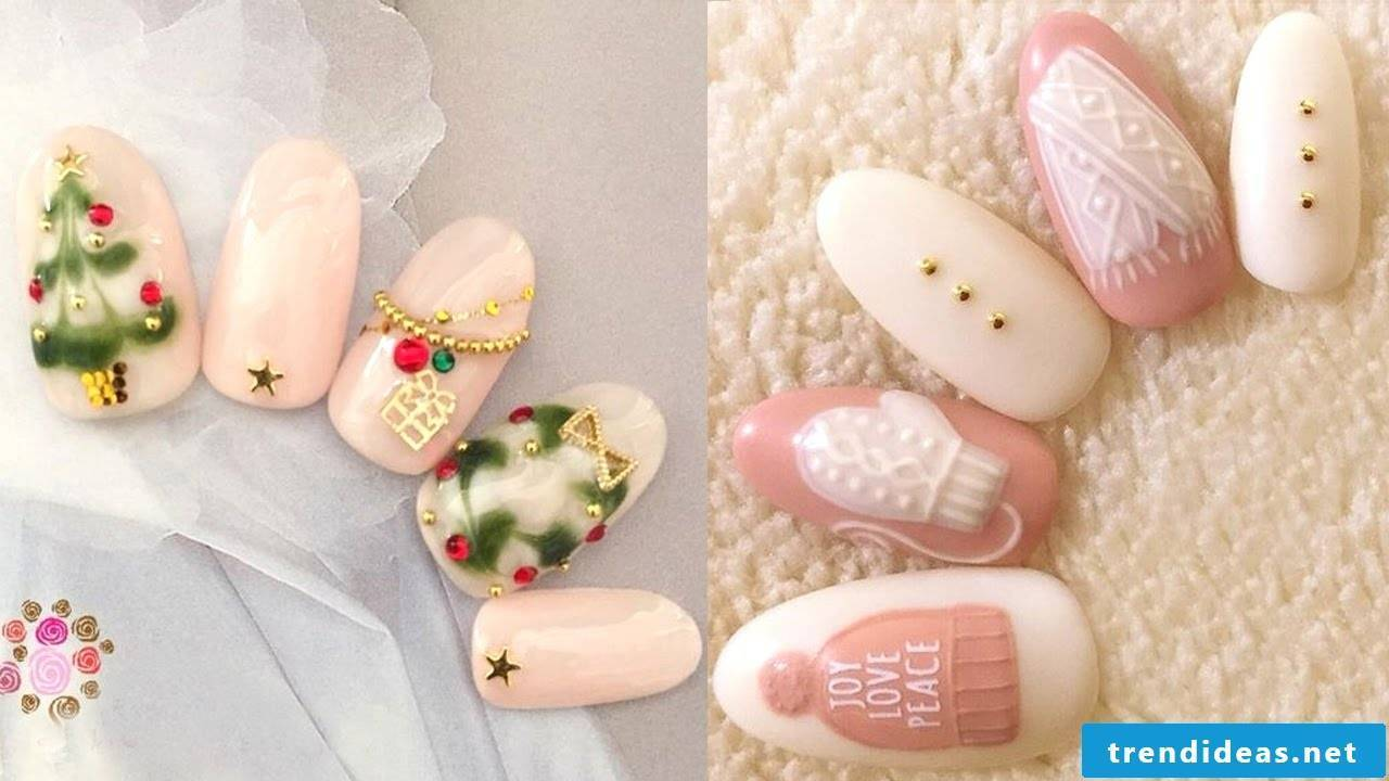 Christmas nails instructions for beginners