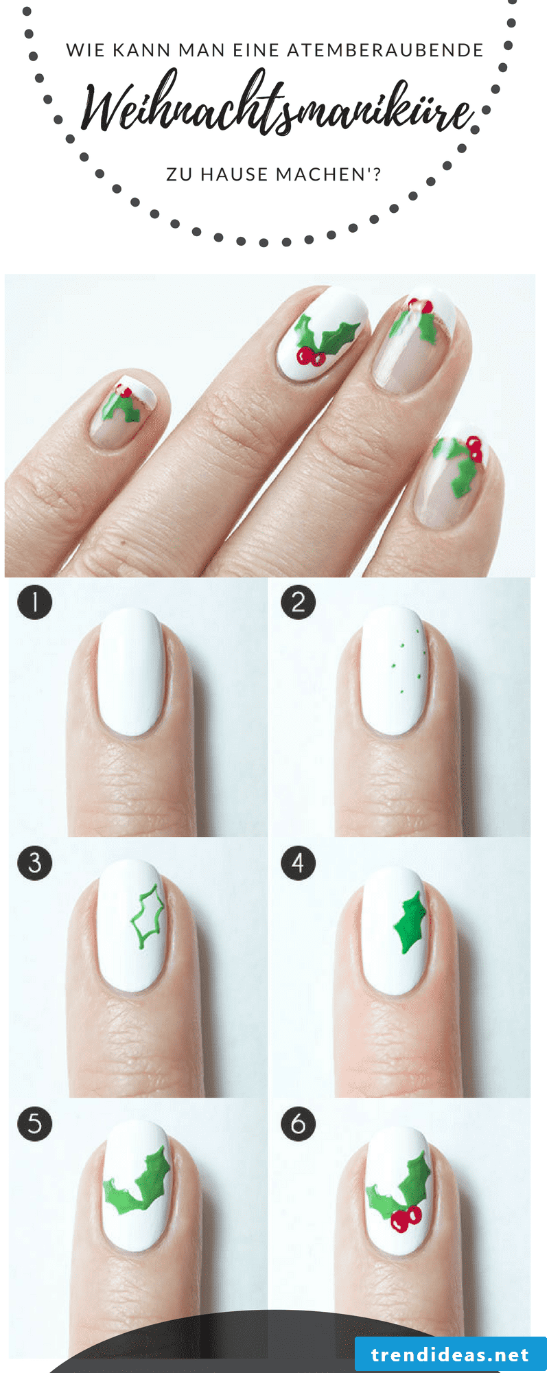 Instructions for a stunning Christmas nails