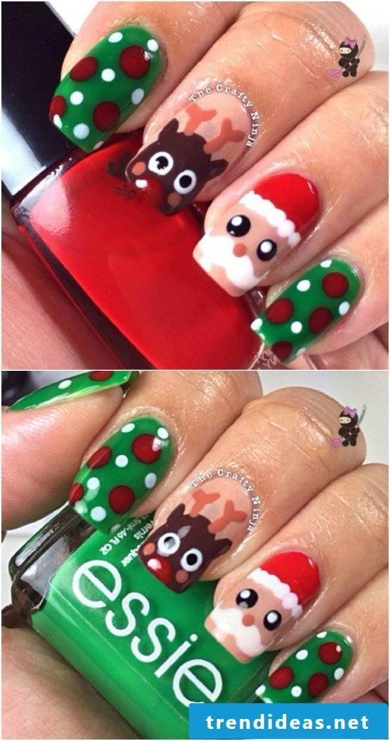 Beautiful nails Christmas designs