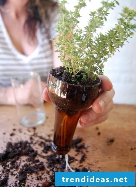 Make flower pot yourself