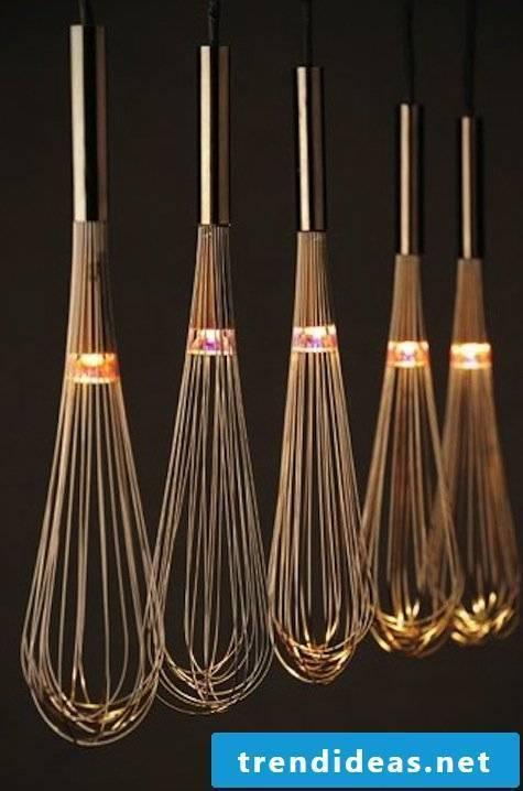 DIY lamps in the garden