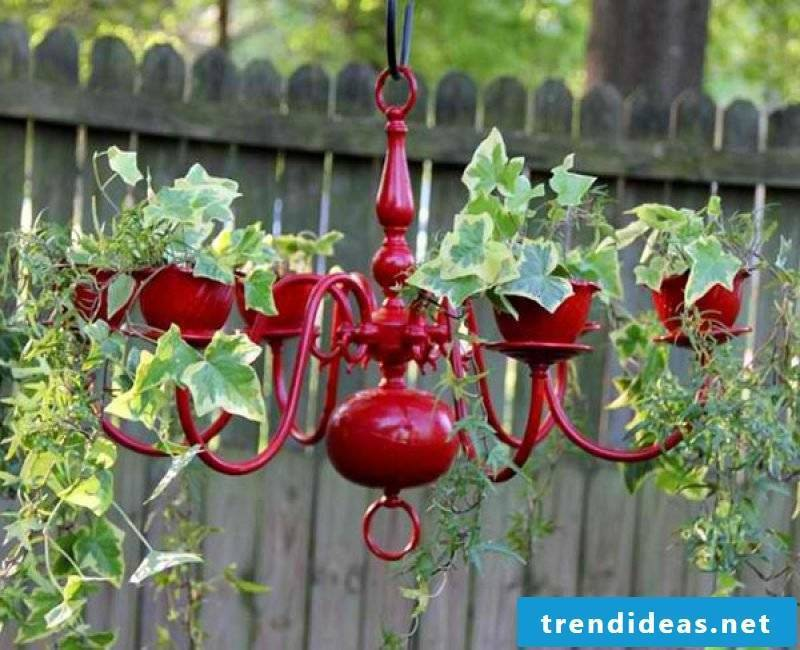 DIY decoration from old chandelier