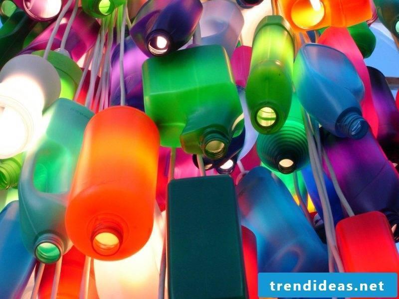 DIY decoration with old plastic bottles