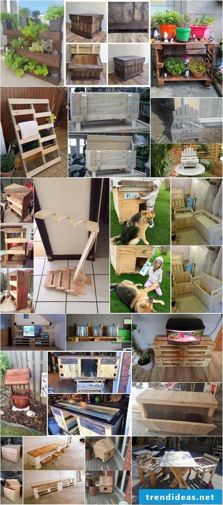 Garden furniture itself build from wood and europallets