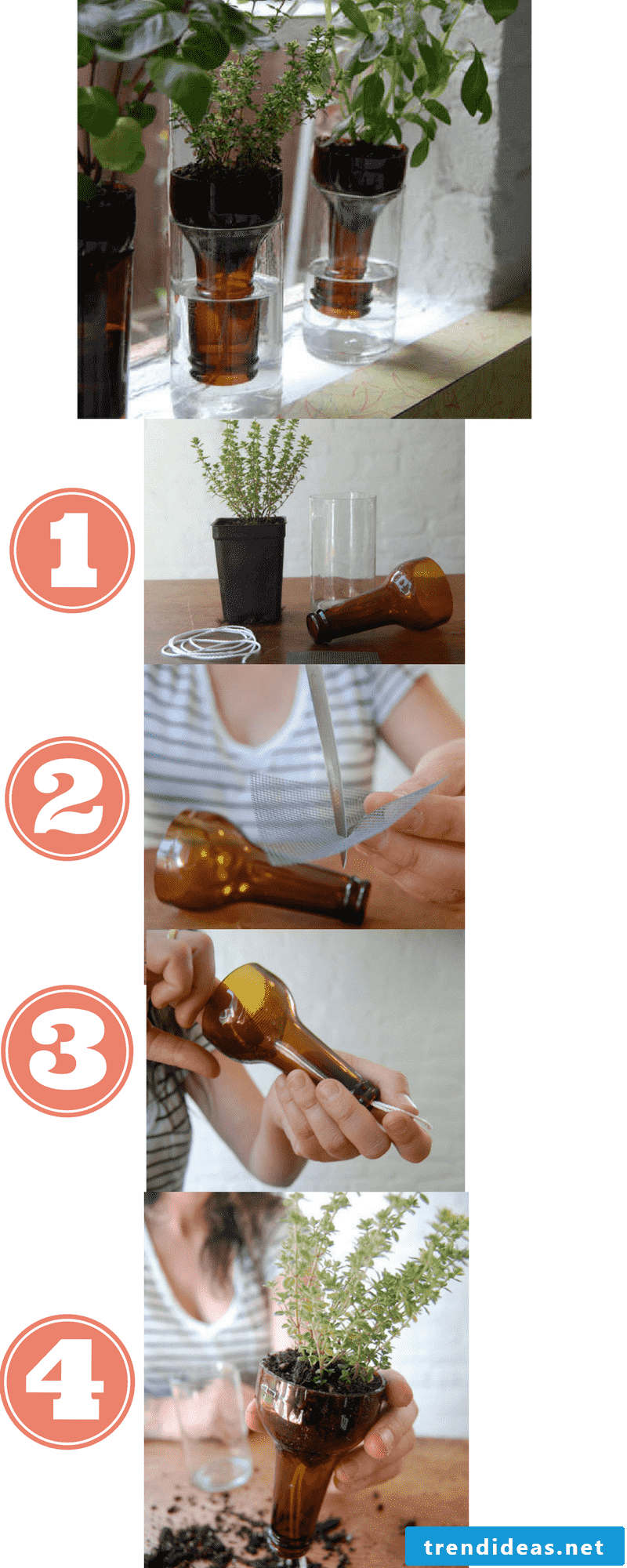 Make flower pot with plastic bag yourself