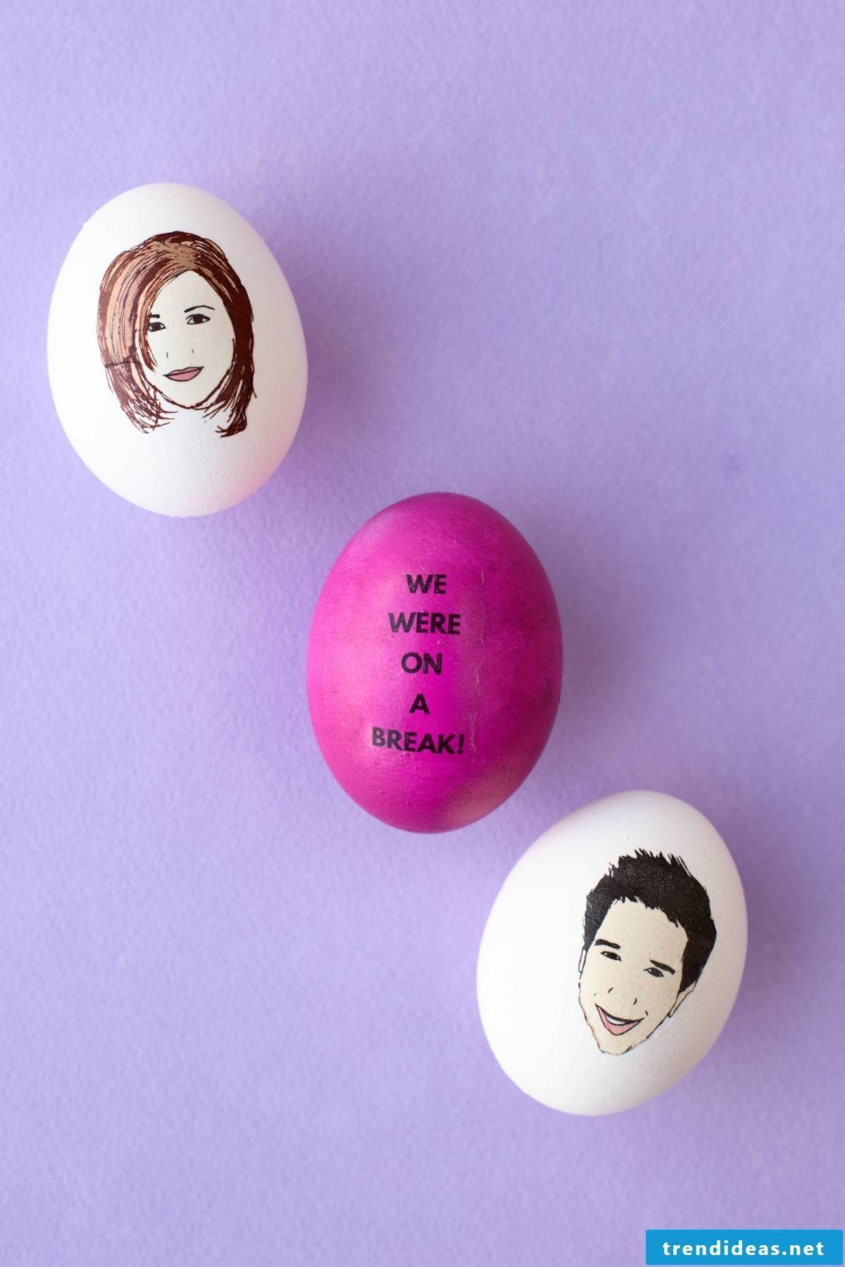 Make Easter eggs with faces of celebrities themselves