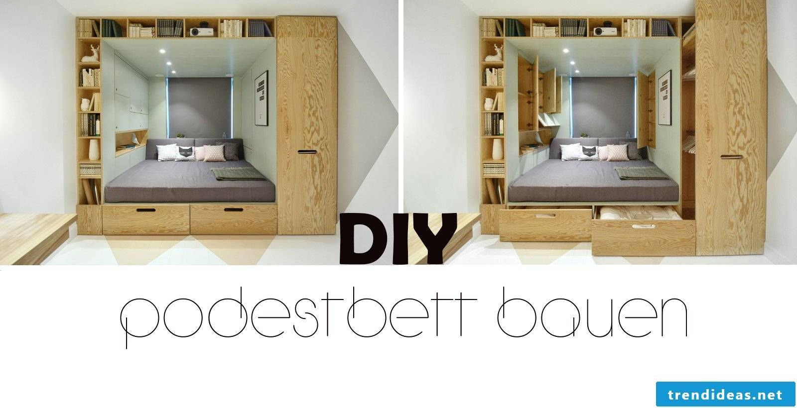 build a pedestal bed