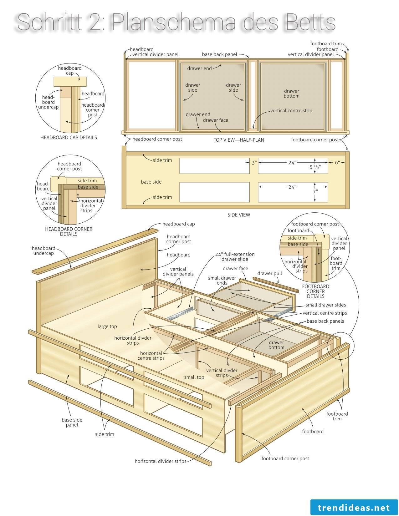 Plan for platform bed building