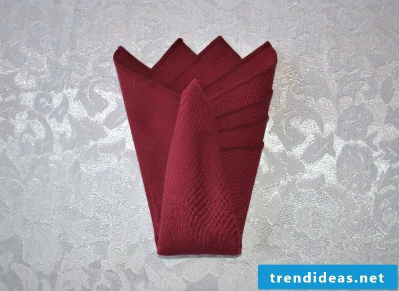 7th step to make a peacock from the napkins.