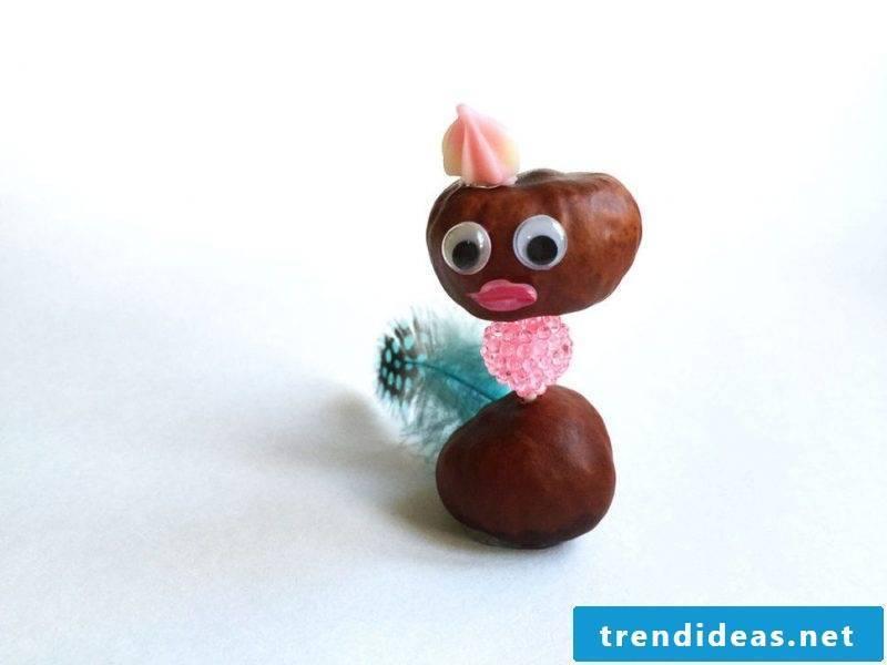 Kastanienmännchen tinker - DIY creative ideas