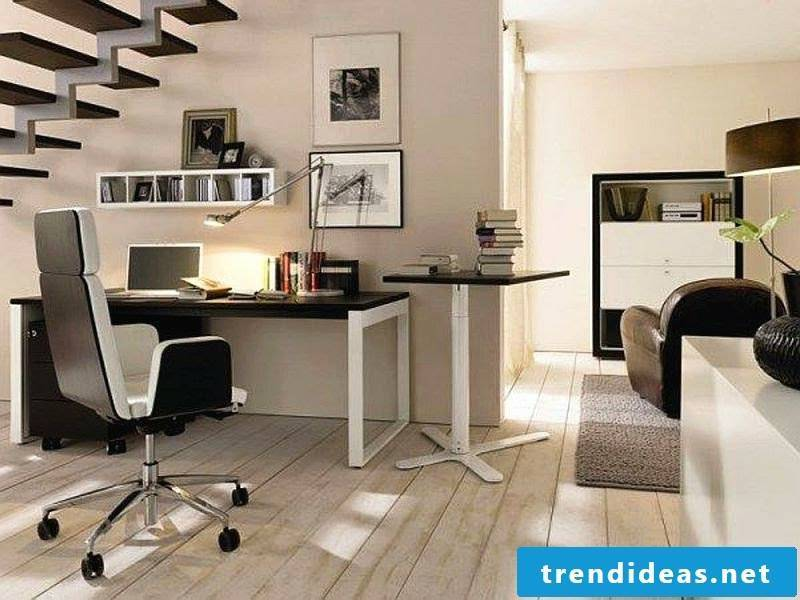 stylish office under the stairs