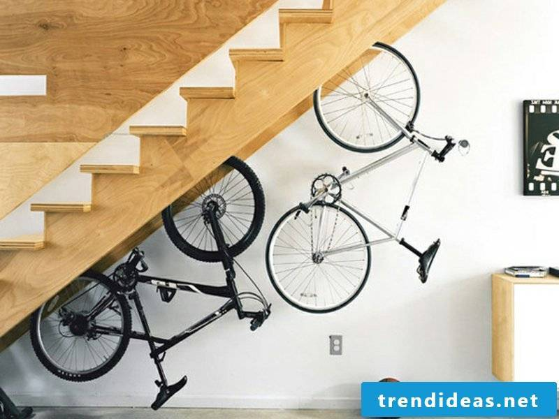 enough space for the bike under the stairs