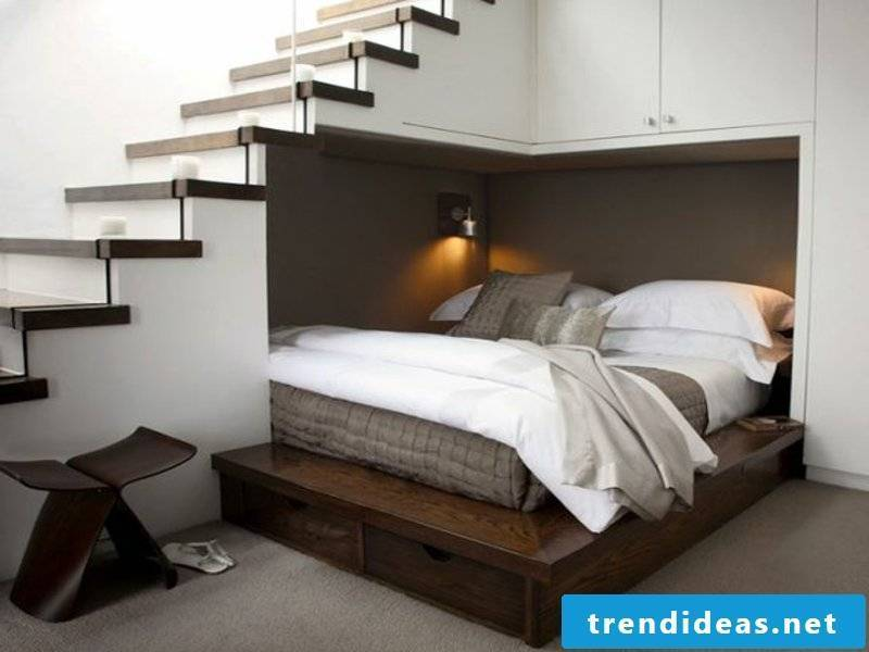 stylish place under the stairs