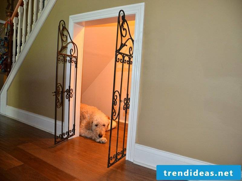 Place for the dog under the stairs