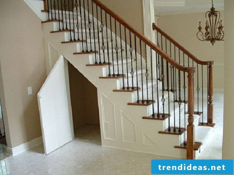 space for a wardrobe under the stairs