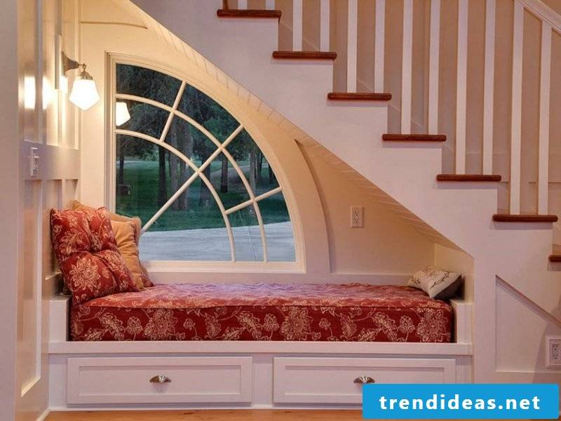 bedroom under the stairs