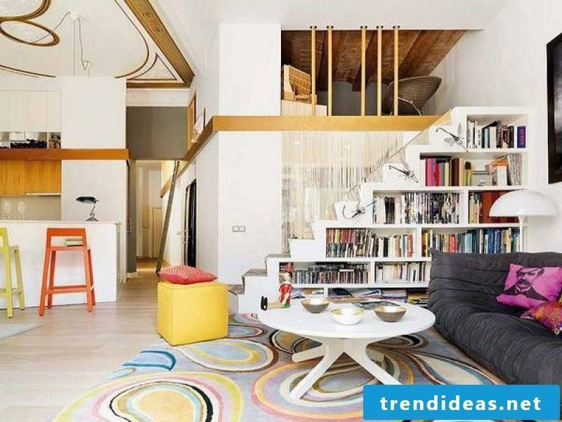 small living room under the stairs