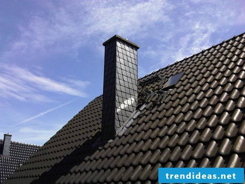 Dress the chimney: cladding with slate!