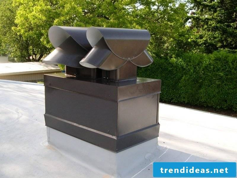 Dressing the chimney: Metal types as materials for the cladding