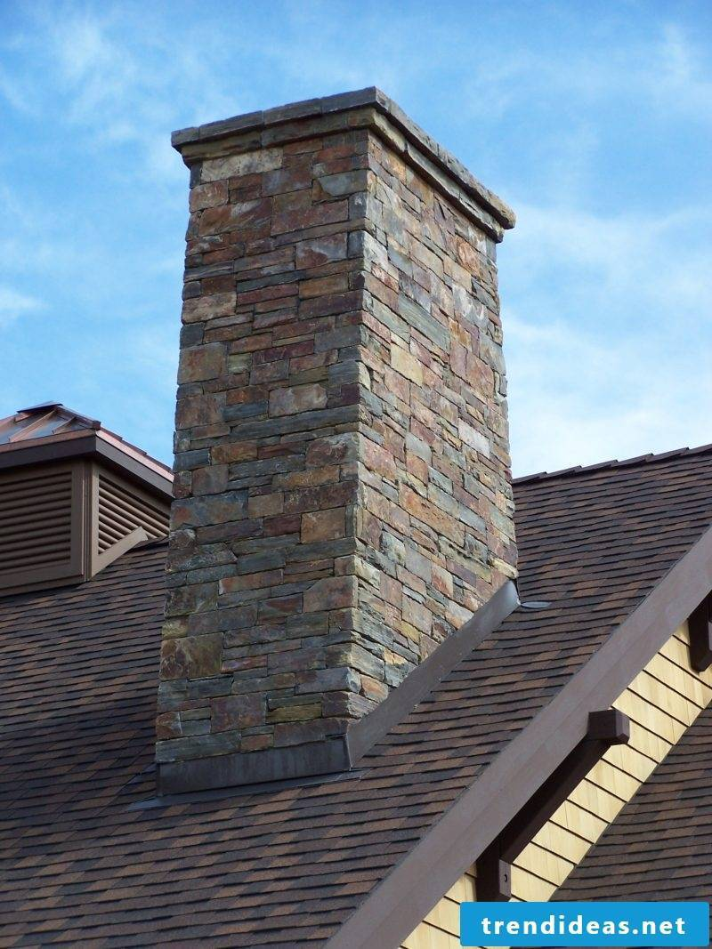 Dressing a chimney is a matter of taste: covering with natural stone