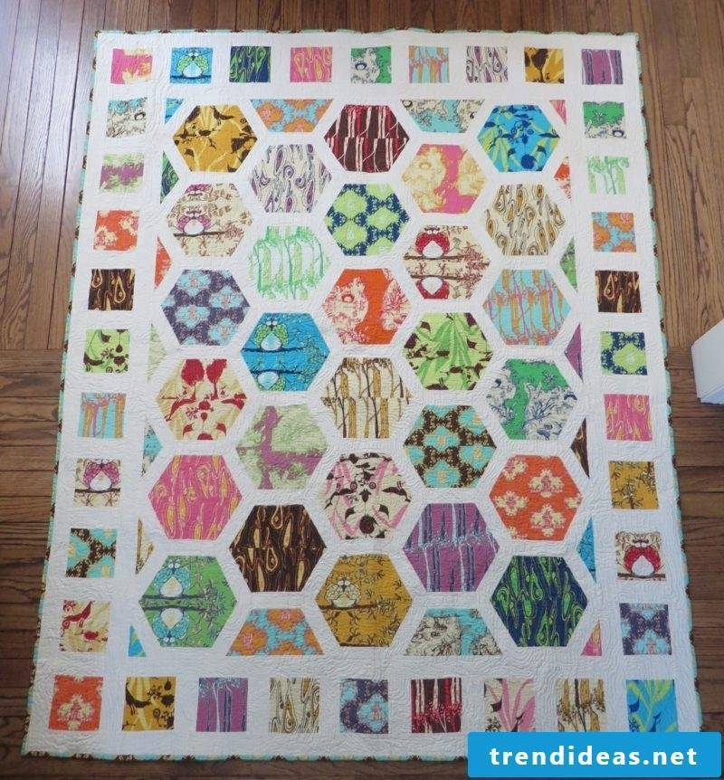 Patchwork blanket instructions