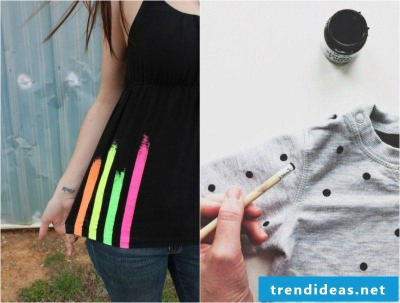 interesting T-shirts with dots and stripes