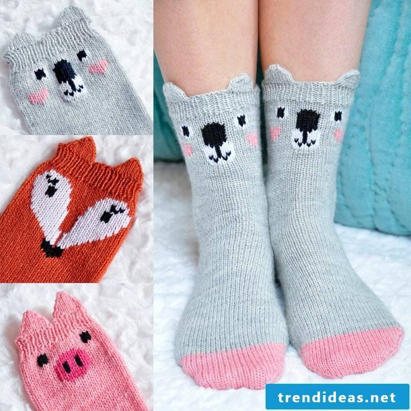 Knitted pattern for socks with a unique design