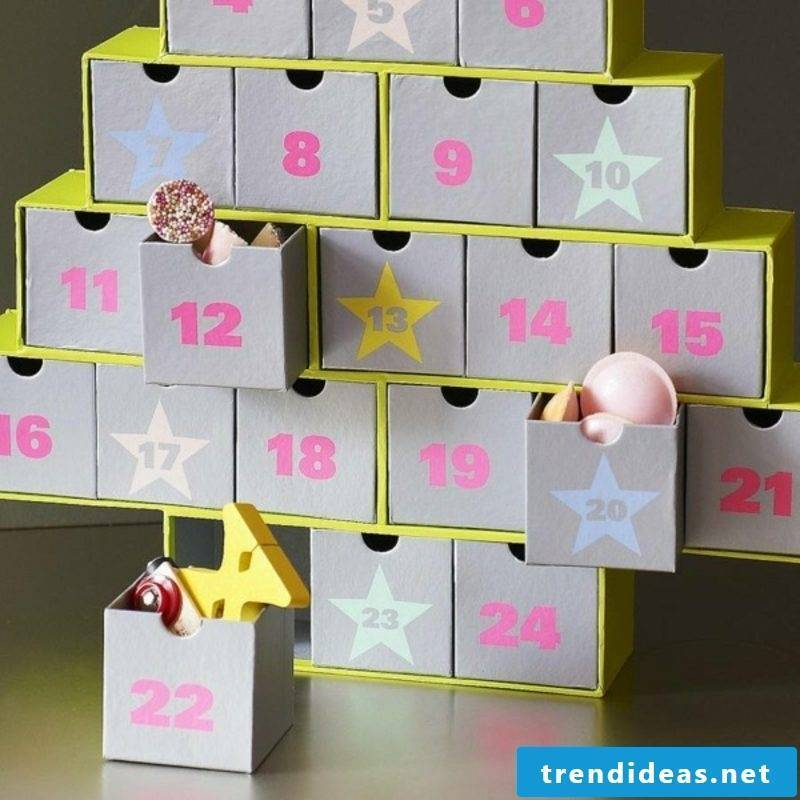 Create Advent calendars yourself Paper boxes