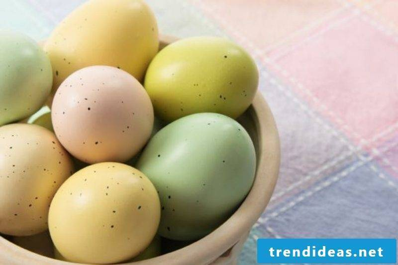 Easter eggs color with nature colors