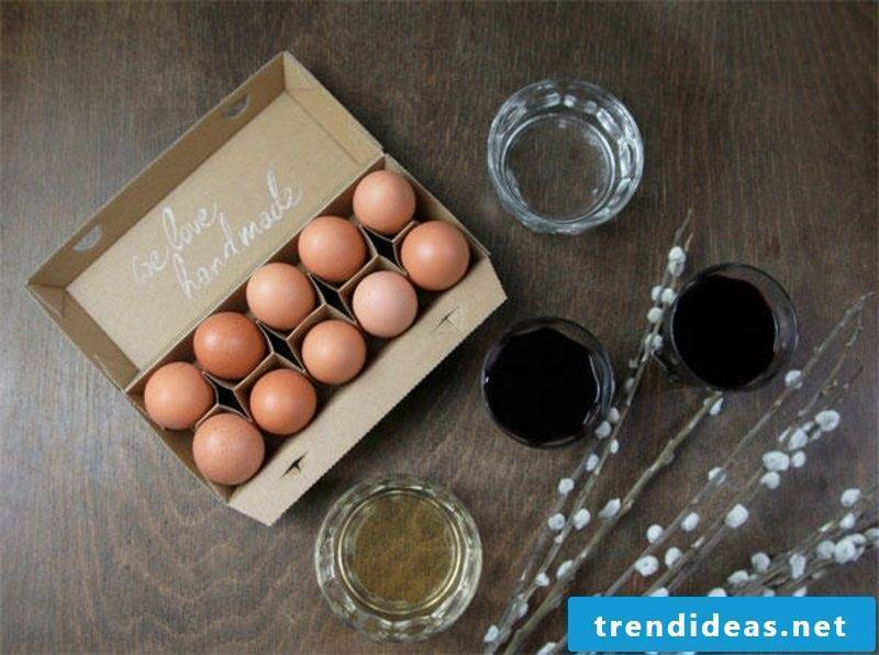 Eggs color natural colors Instructions