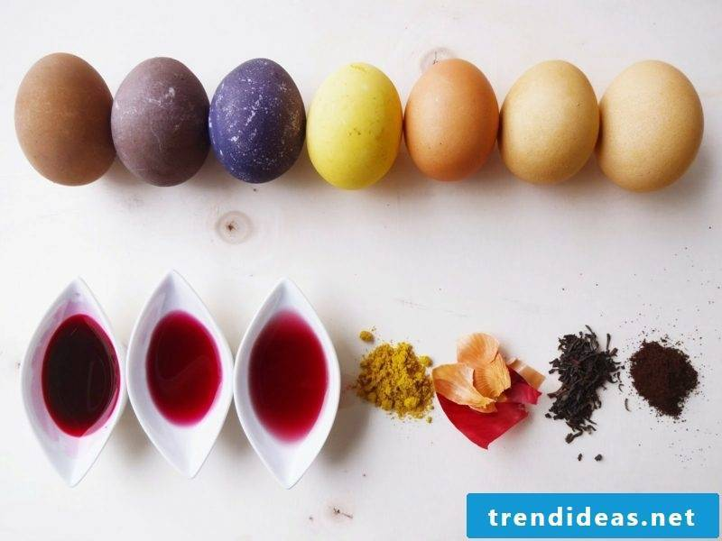 Easter eggs color with nature colors recipes and decorating techniques