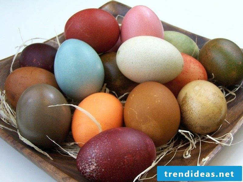 Easter eggs color with nature colors gorgeous look