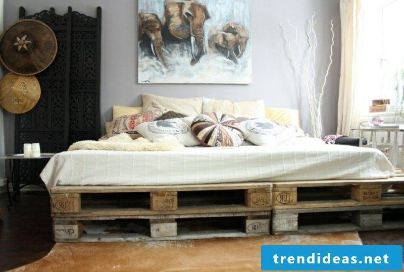 Euro pallets bed modern look