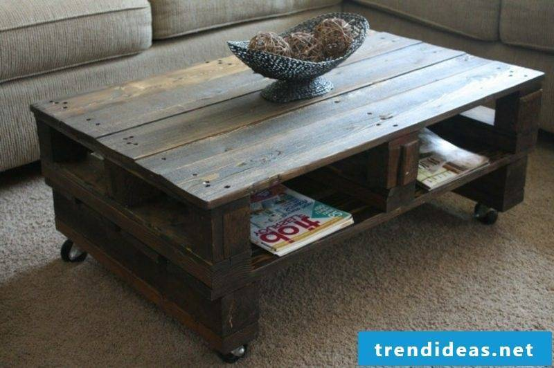 interesting coffee table made of europallets