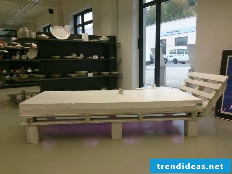 Euro pallets bed with headboard large and practical