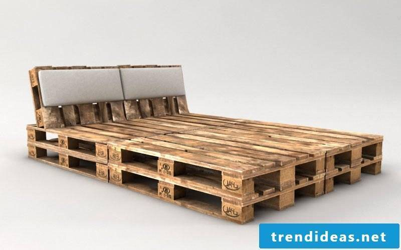 build pallet bed with headboard yourself