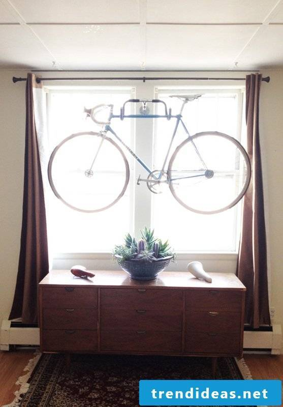 Bicycle mount for wall DIY project