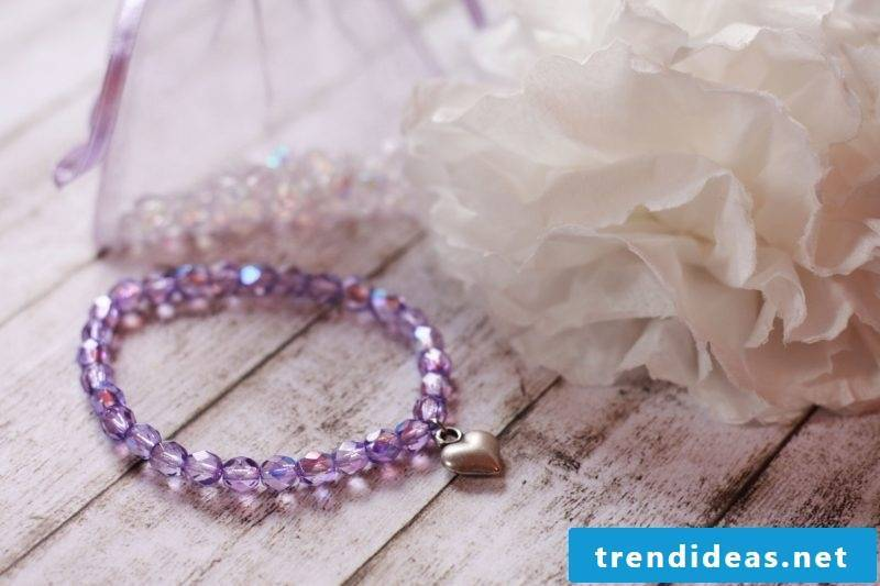 bracelets tie purple